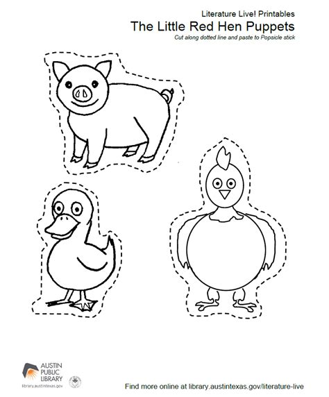 printable hen images the little red hen printables popflyboys