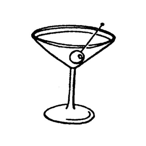 pink martini drawing cocktail glass drawing clipart best