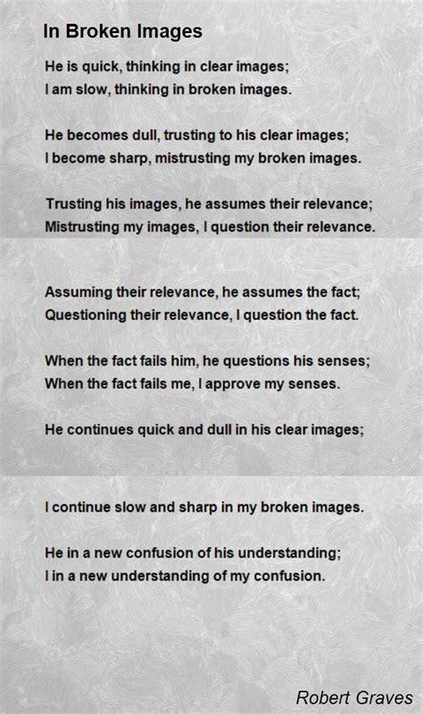 poem images in broken images poem by robert poem