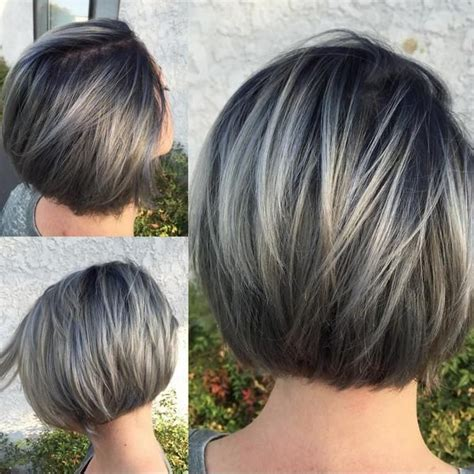 Hairstyles Grey Highlights | 25 best ideas about gray hair highlights on pinterest