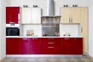 Red Kitchens With White Cabinets Pictures Of Kitchens Modern Red Kitchen Cabinets Page 3
