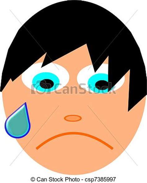imagenes de tristeza en caricatura ilustraciones vectoriales de triste cara emo ni 241 o con