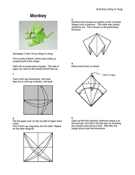 How To Make An Origami Monkey - origami monkey vs1 by cy hung