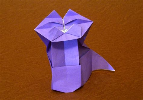 Origami Sitting - origami cats page 7 of 9 gilad s origami page