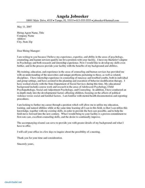 cover letter for human services human services cover letter sle cover letter