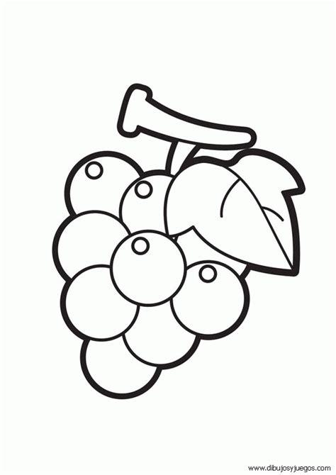 imagenes infantiles uvas dibujos de uvas 001 dibujos y juegos para pintar y colorear