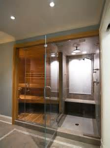 sauna with steam shower beautiful homes design