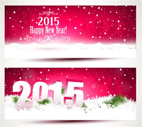 2015 happy new year vector 2015 happy new year winter banners vector free vector in