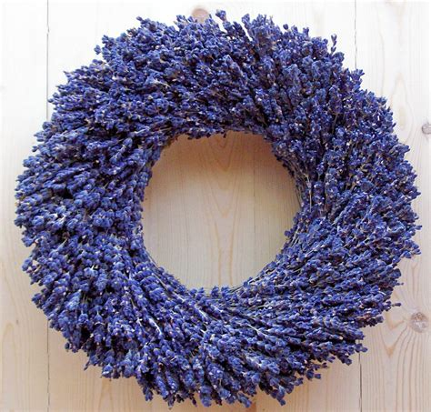Door Wreaths dried lavender wreath by lavender fanatic