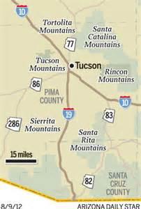map mountain ranges near tucson
