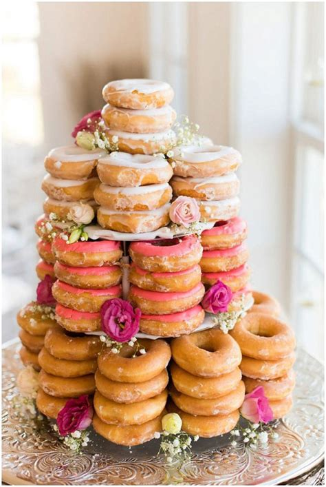 Donut Wedding Cake by 18 Incredibly Wedding Cakes Weddingsonline