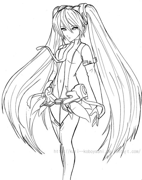 the gallery for gt vocaloid miku coloring pages