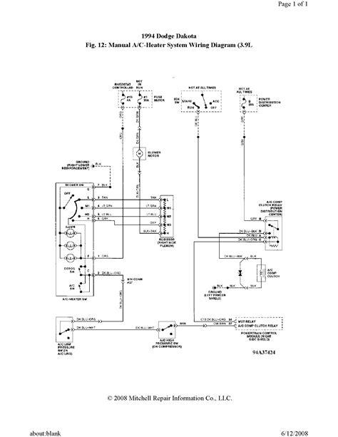 1994 dodge dakota blower motor wiring diagram wiring