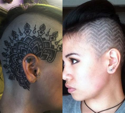 tattoo under body hair the most trendy under haircut hair tattoos for girls