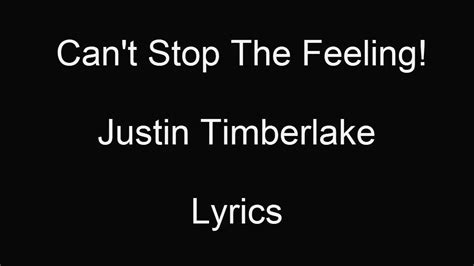 you got it on justin timberlake lyrics justin timberlake i got this feeling lyrics youtube