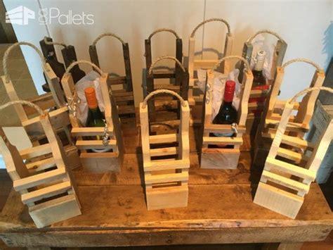rustic pallet wood reusable wine gift bags wood pallets