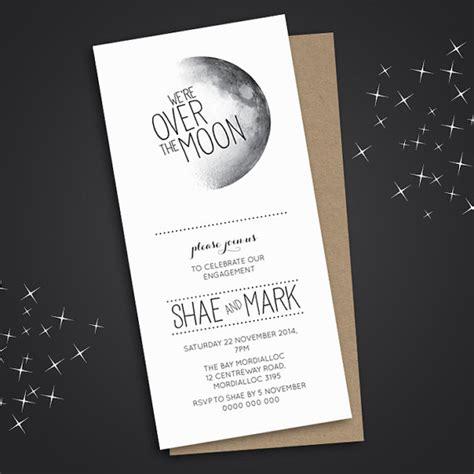 moon wedding invitations engagement invitation engagement invite engagement dinner diy printable the