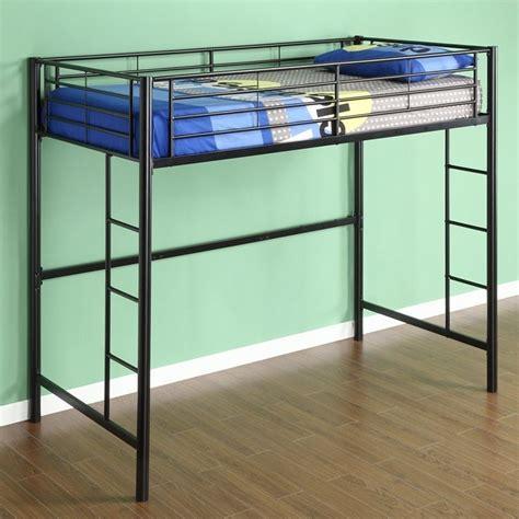 black loft bed walker edison sunset metal twin loft bunk bed in black