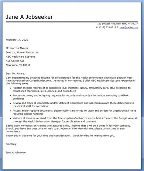 sample cover letter for medical billing and coding writing a cover