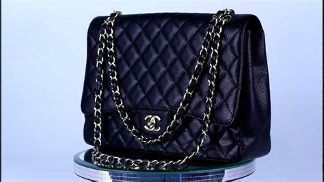 New Chanel Maxi 28x17x9cm Semiori chanel caviar jumbo maxi flap bag handbag purse gold cc classic black auth new