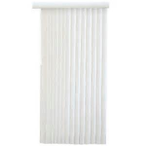 vertical blinds home depot hton bay white faux wood 3 5 in pvc vertical blind