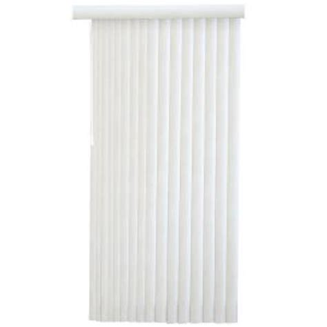 hton bay white faux wood 3 5 in pvc vertical blind