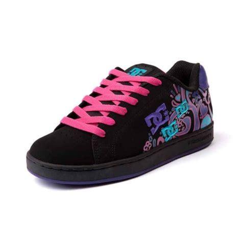 blackpink dc shop for womens dc pixie doodle skate shoe in blackpink at