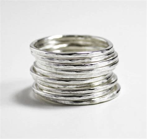 individual silver stacking rings sterling silver stacking
