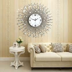 decorative wall clocks for living room amazon com