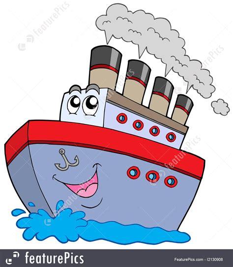 cartoon about boat watercraft cartoon boat stock illustration i2130908 at