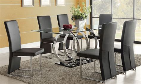 Glass Dining Sets 6 Chairs 6 Seater Glass Dining Table Sets Destroybmx With Regard To Glass Dining Room Sets For 6 Design