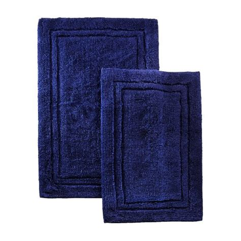 navy bath rug superior 2 cotton bath rug set navy blue new free shipping ebay