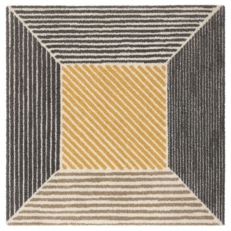 Teppich 2 X 2 M by Birket Rug High Pile Yellow Grey 200x200 Cm Ikea