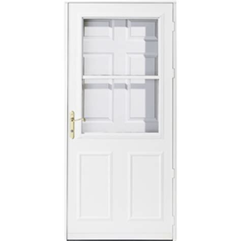 pella retractable screen door shop pella olympia white high view safety wood retractable screen storm door common 34 in x 81