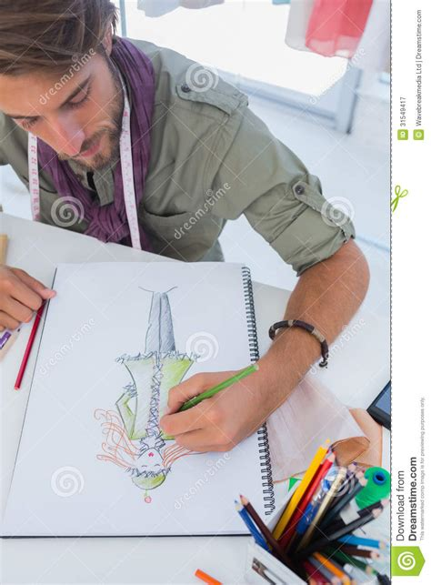 design fashion how to fashion designer drawing a coat royalty free stock