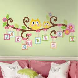 Space Themed Wall Murals owls on a tree wall decals for girls rooms and baby