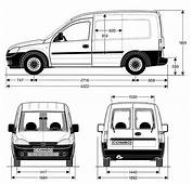 Opel Combo 2005 Blueprint  Download Free For 3D