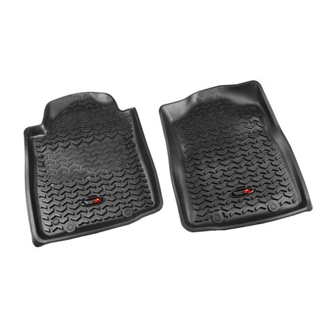 rugged automatic rugged ridge floor liner front pair black 2012 2013 toyota tacoma automatic 82904 15 the home
