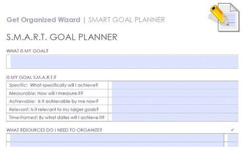 smart goals templates smart goal setting template www pixshark images