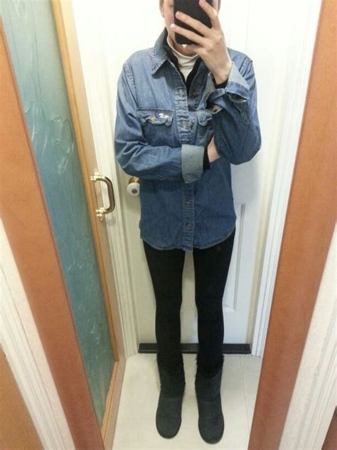 Authentic Uniqlo Flannel jackets uniqlo and boots on