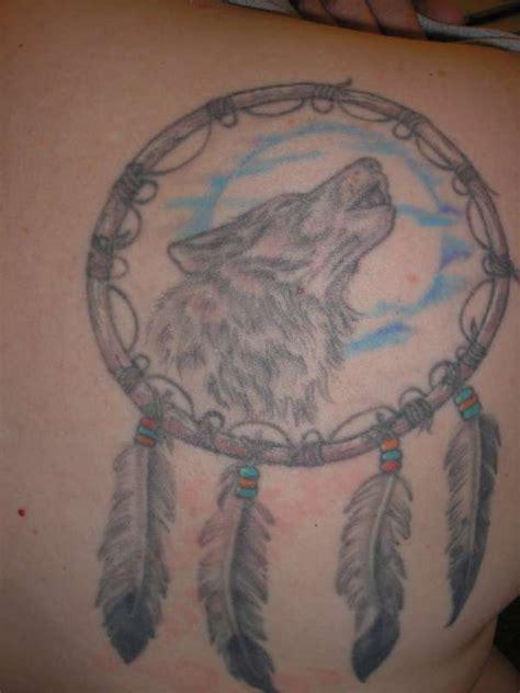 tattoo dreamcatcher wolf wolf dream catcher tattoo