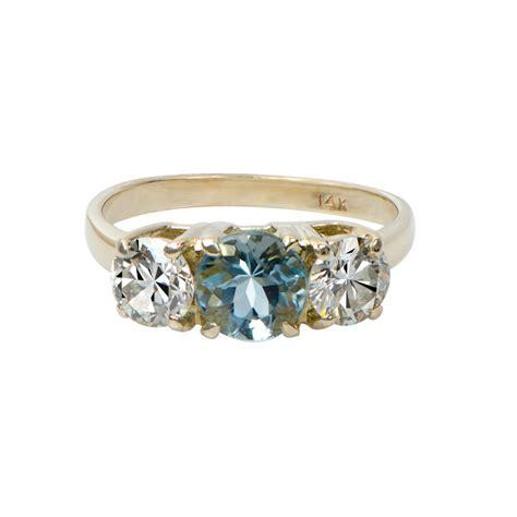 aquamarine and engagement ring estate