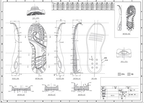 blueprint drawing program drawing a shoe outsole blue print how shoes are made