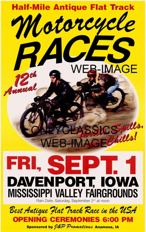 motocross races in iowa motorcycle flat dirt track racing poster old harley