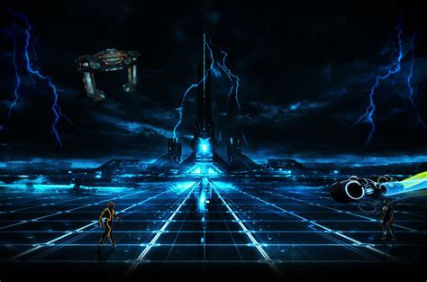Night Sky Wall Mural tron city 2 by seb29270 on deviantart