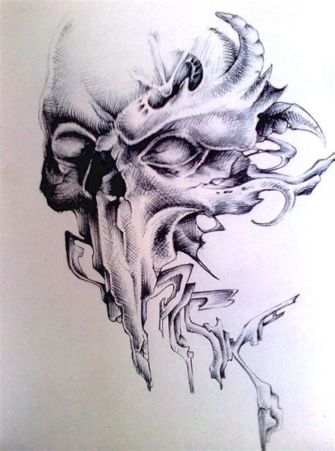 skull graff by pick1 on deviantart