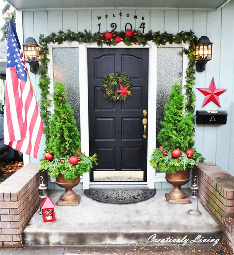 Apartment Front Door Decorating Ideas Front Porch Creatively Living