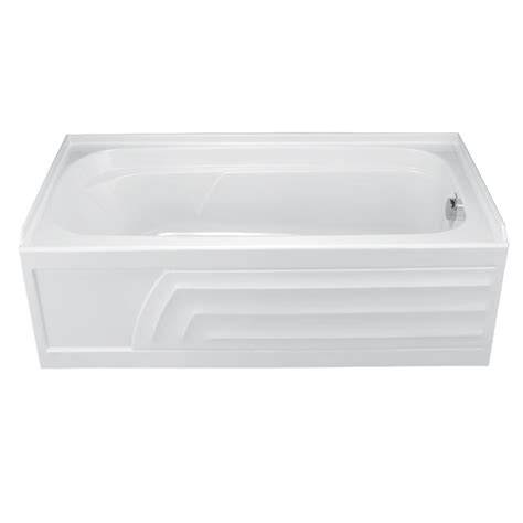 american standard acrylic bathtubs american standard colony 5 ft acrylic right hand drain bathtub in white 2740 102 020