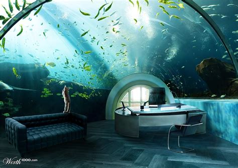 office desk aquarium the top 5 most ridiculous but awesome home offices