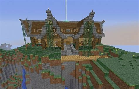 minecraft mountain house designs keralis mountain house with other modifications d minecraft project